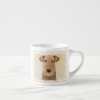 Airedale Terrier Painting - Cute Original Dog Art Espresso Cup