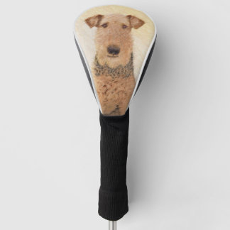 Airedale Terrier Painting - Cute Original Dog Art Golf Head Cover