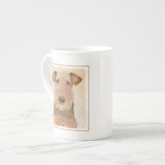 Airedale Terrier Painting - Cute Original Dog Art Tea Cup