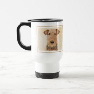 Airedale Terrier Painting - Cute Original Dog Art Travel Mug