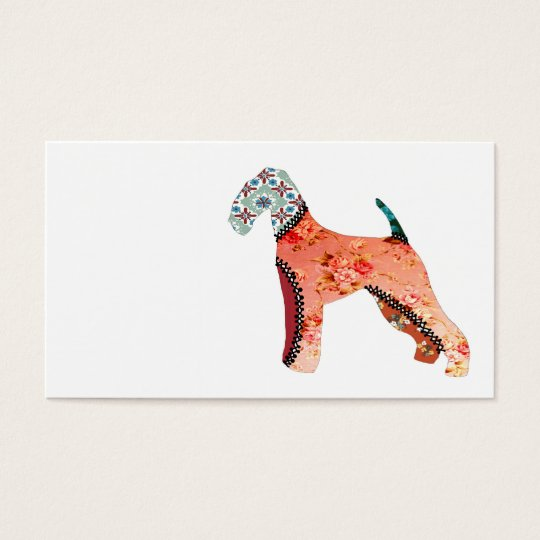 Airedale Terrier Patchwork Pet Business Cards