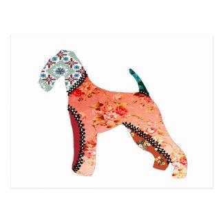 Airedale Terrier Patchwork Pet Postcard