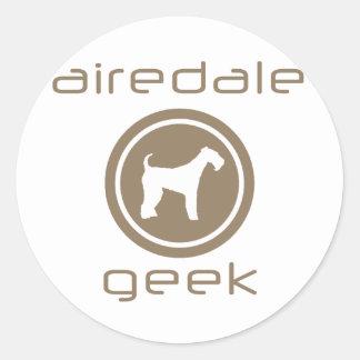 Airedale Terrier Etiquetas Redondas