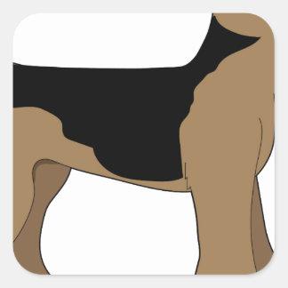 Airedale Terrier Pegatina Cuadrada