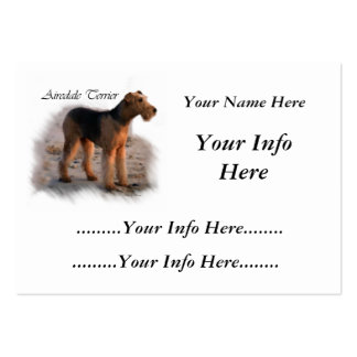 Airedale Terrier Personalized Cards Business Card Template
