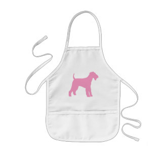 Airedale Terrier (pink) Kids' Apron