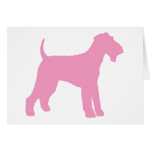 Airedale Terrier (pink) Greeting Cards
