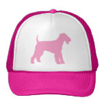 Airedale Terrier (pink) Mesh Hat