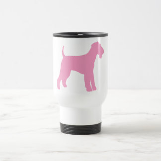 Airedale Terrier (pink) Travel Mug