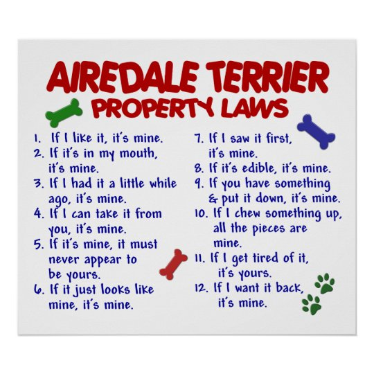AIREDALE TERRIER PL2 POSTER