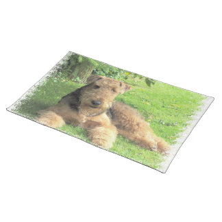 Airedale Terrier Placemats Mantel Individual