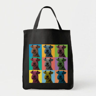 Airedale Terrier Pop-Art Tote Bag