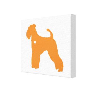 Airedale Terrier pop dog art heart silhouette Canvas Print