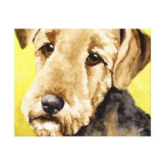 Airedale Terrier Portrait Canvas Prints