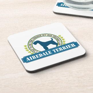 Airedale Terrier Posavasos De Bebida