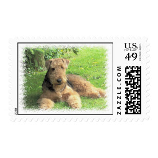 Airedale Terrier Postage Stamp