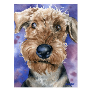 Airedale Terrier Postcard