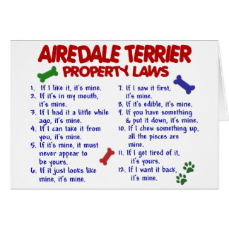 AIREDALE TERRIER Property Laws 2 Card