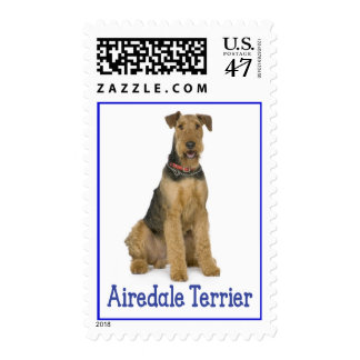 Airedale Terrier Puppy Dog Love Postage Stamps
