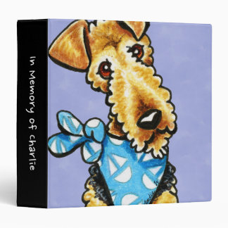Airedale Terrier Puppy Personalized Memory Album Binder