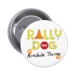 Airedale Terrier Rally Dog 2 Inch Round Button