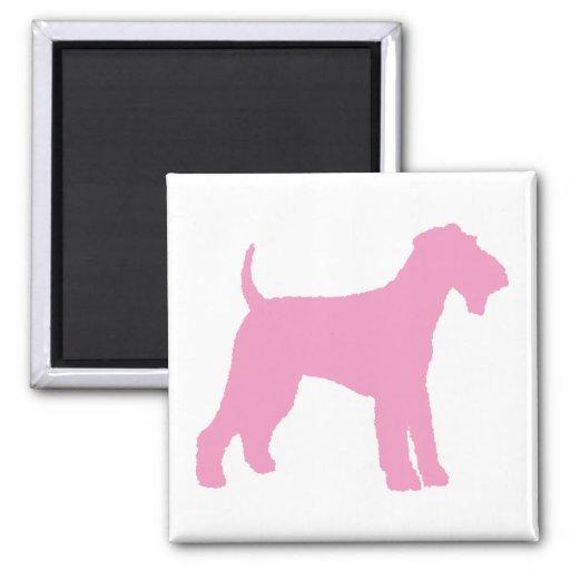 Airedale Terrier (rosa) Imanes Para Frigoríficos