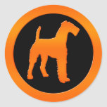 Airedale Terrier Round Stickers