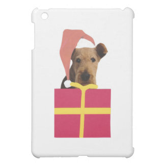 Airedale Terrier Santa Hat Gift Box Cover For The iPad Mini
