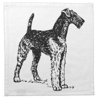 Airedale Terrier Servilletas Imprimidas