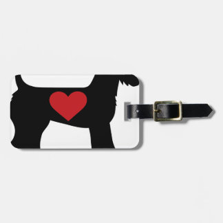 Airedale Terrier Silhouette Bag Tags