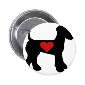 Airedale Terrier Silhouette Buttons