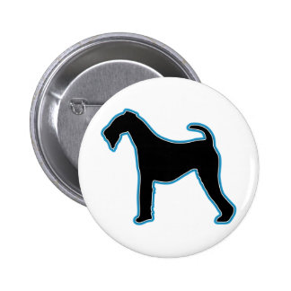 Airedale Terrier Silhouette Button