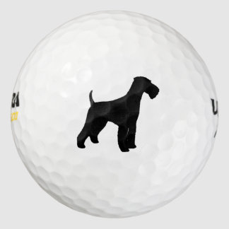 Airedale Terrier Silhouette Golf Balls