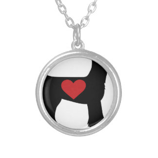 Airedale Terrier Silhouette Personalized Necklace