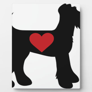 Airedale Terrier Silhouette Plaque