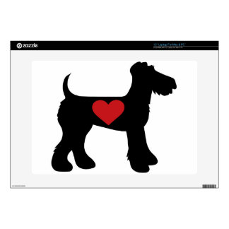 Airedale Terrier Silhouette Skin For Laptop