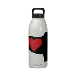 Airedale Terrier Silhouette Drinking Bottles