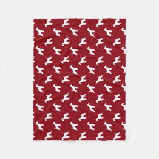 Airedale Terrier Silhouettes Pattern Fleece Blanket