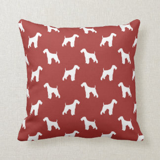 Airedale Terrier Silhouettes Pattern Pillow
