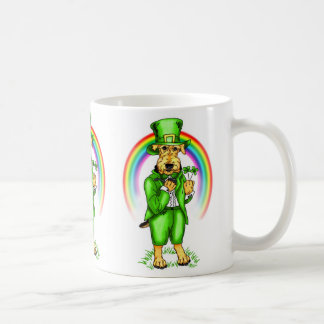 Airedale Terrier St. Patrick's Day Leprechaun Coffee Mugs