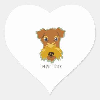 Airedale Terrier Heart Sticker