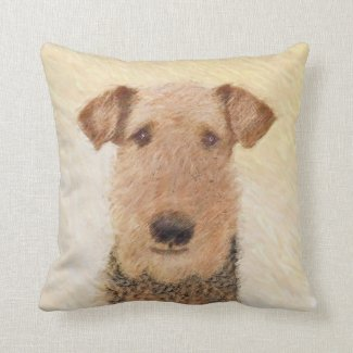 Airedale Terrier Throw Pillow