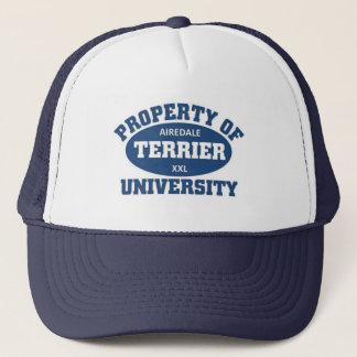 Airedale Terrier University Trucker Hat