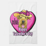 Airedale Terrier Valentines Day Hand Towel