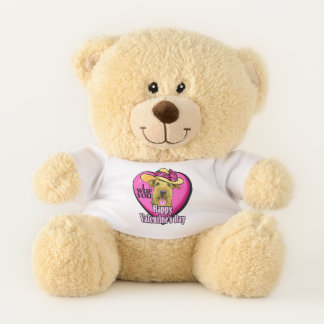 Airedale Terrier Valentines Day Teddy Bear