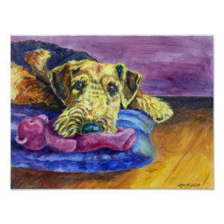 Airedale Terrier Wall Print