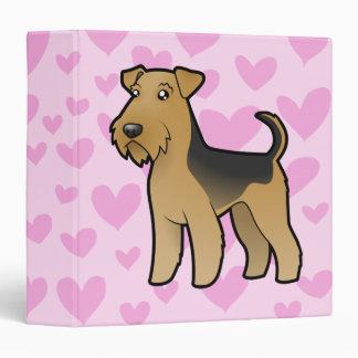 Airedale Terrier / Welsh Terrier Love 3 Ring Binder