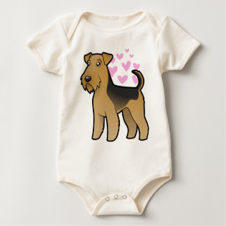 Airedale Terrier / Welsh Terrier Love Baby Bodysuit