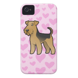 Airedale Terrier / Welsh Terrier Love iPhone 4 Cover