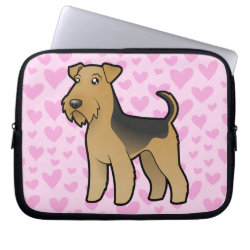 Airedale Terrier / Welsh Terrier Love Computer Sleeve